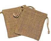 10 - 5x6 Organic Burlap Drawstring Bags - Great Craft Supply - Gift Wrap - WEDDINGS- Storage- Gift Bags