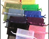 200 Sheer 3x4 Organza  Bags - Drawstring -Any Assortment YOU CHOOSE - Great for Party/ Shower favors- Sachets