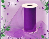 75 ft 6 inch Purple Tulle - Perfect for Tutus- Weddings- Wholesale Craft Supply