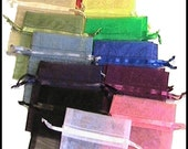 500 Sheer 3x4 Organza Bags - Any Assortment YOU CHOOSE - Great for Party/ Shower favors- Sachets