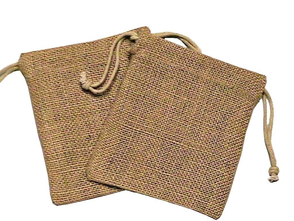 10 5x6 organic burlap bags great craft supply by thatfinaltouch