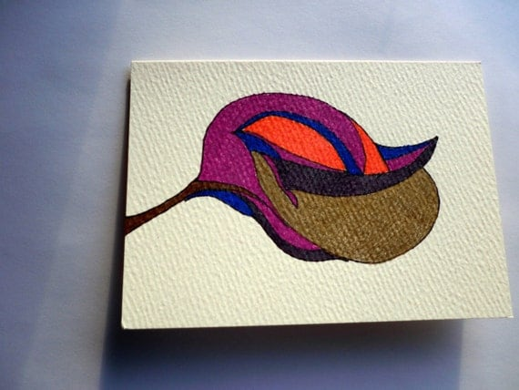 Blank Card Floral Abstract