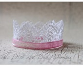 SALE  pink glitter crown for newborn