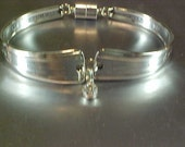 Engraved M or W, Silver Bracelet, Silver Spoon Bracelet, Spoon Bracelet, Silver Jewelry, Bracelet, Charm Bracelet, Silverware Bracelet,