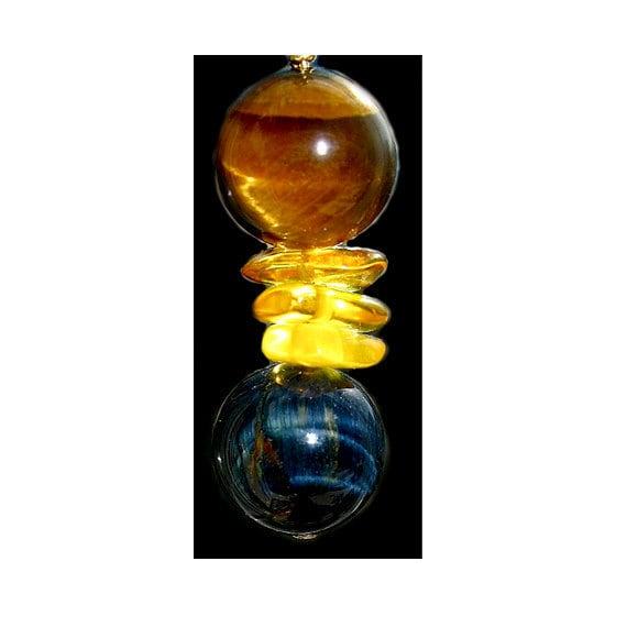 Ceiling Fan Chain Quality Gemstone Yellow Amber, Gold Tiger Eye, Blue Tiger Eye
