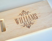 Personalized Cutting Board Laser Engraved 8x14 Wood Cutting Board CBW814