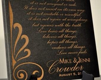 Family Name Established Sign Plaque Laser Engraved 8x8