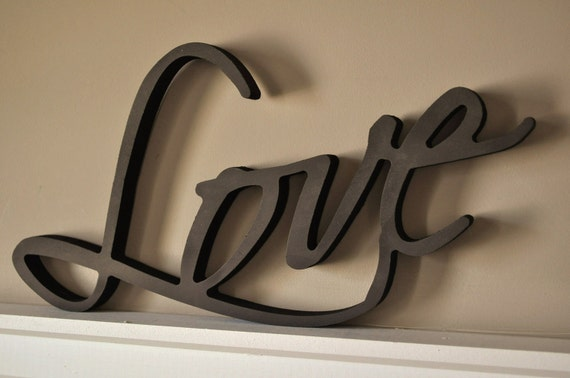 Word Art Wood 3D Cutout 'Love' by MRC Wood Products