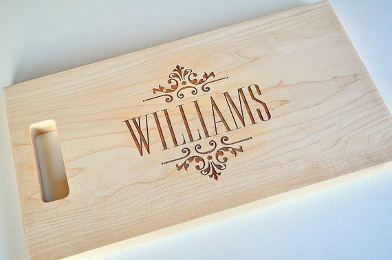 Personalized Cutting Board Laser Engraved 11x15 Wood Cutting Board CBW1115