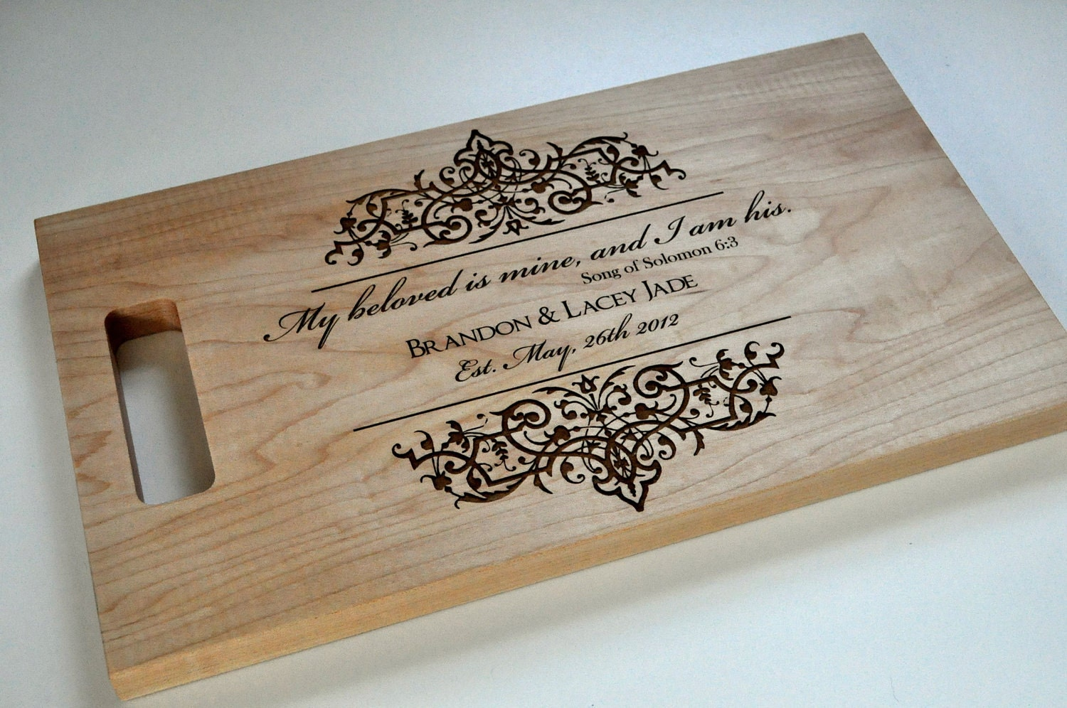 Personalized Cutting Boards ~ Custom cutting board laser engraved personalized wood