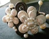 La Fleur Blanche Bracelet Cuff - Xquisit -