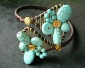 Turquoise Vintage Bracelet Cuff - Xquisit -