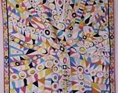 Emilio Pucci Silk Scarf New w/Tags Classic Geometric Vibrant Color