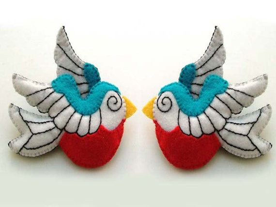 Náutico Rockabilly Tattoo Swallow Broches