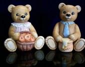 Bear Figurines, Teddy Bears, Homco Bears, Porcelain,