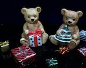 Bear Figurines, Homco, Christmas Bears