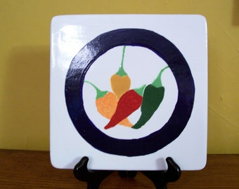 Trivet, Chili Peppers, Hot Plate