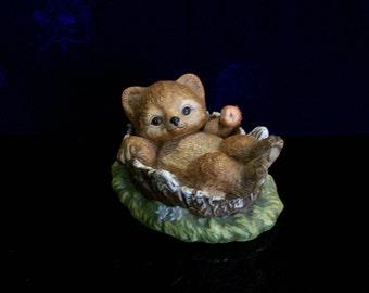 Teddy Bear, Homco Bear, Porcelain Figurine, Figurine