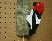 Country Rustic Woodpecker Door Knocker