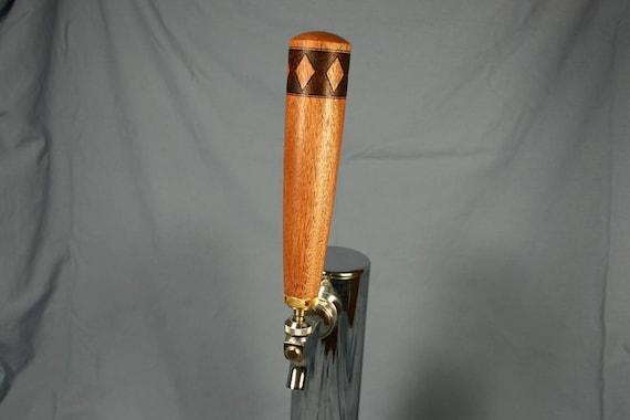 Beer Keg Tap Handle - African Mahogany Wood