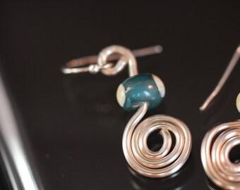Spunky Spun Turqouise Earrings