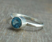 Sterling Silver and Swiss Blue Topaz Ring