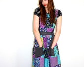 1970s  Japanese Pinafore style Maxi dress