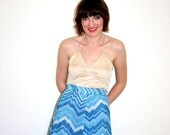 High Waisted Missoni style lurex skirt