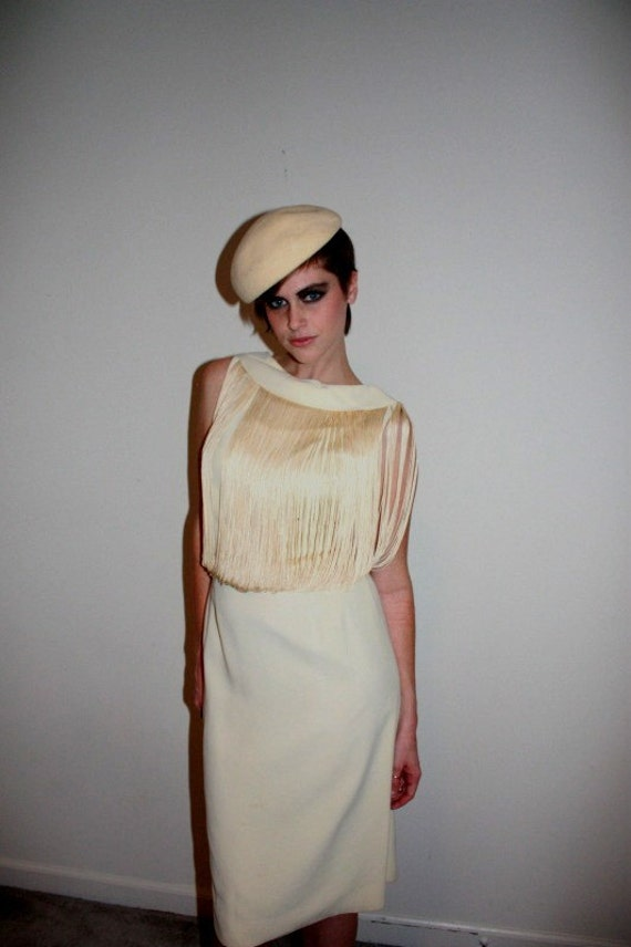 Late 1950s PAT HARTLY Fringe Stage Dress