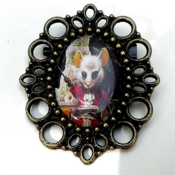 With Purchase of Any Other FULL Priced Item, Mouse Brooch, Vintage Style, Classic Tale, Alice in  Wonderland