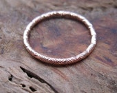 RESERVED for Anisha / ESTATE Engraved Stacking Ring / Wedding Band 14K Rose Gold