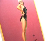 Authentic Vintage 1940s Earl Moran Larger Risque Pin Up Salesman Sample Card Watch This One