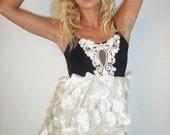 Fall 2010 Runway Collection Piece Supastar Clothing --  Black And White Forest Bumple Dress