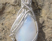 Mother Moon/ Moonstone and Sterling Silver Pendent