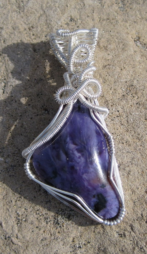 Luscious Lavender/ Charoite and Sterling Silver Pendent