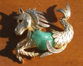 Vintage Hippocampus Sea Horse Brooch