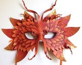 Autumn Forest Mask - MADE TO ORDER Leather Mask