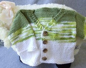 Tri-Color Cotton Cardi for Baby Boy - 6 mos