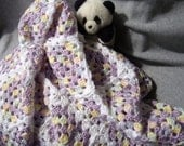 Lavender and White Baby Blanket