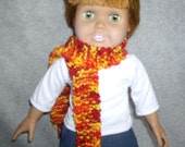 Flame Colored Scarf for American Girl and Other 18 Inch Dolls
