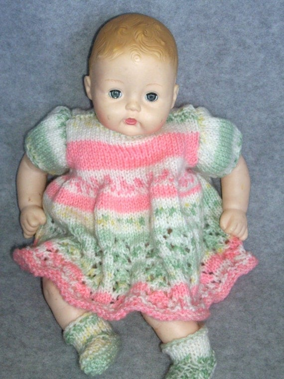 Pink and Green Dress 14 Inch Baby Doll