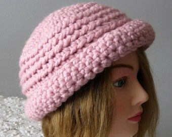 Fall Clearance Sale SWomens Cloche Derby Hat  A Soft Pink Derby Hat  Ready to Ship