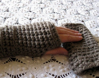 Clearance Taupe Fingerless Gloves,Hand Wristwarmers