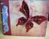 Believe.  Fairy Journal, Soaring Butterfly Diary, Starry Sky,