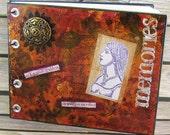 SALE Painted Journal, Egyptian Goddess mini diary, memories