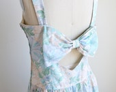 Vintage LANZ ORIGINAL floral dress with a big ribbon at the back.(Reserved for Heidi)