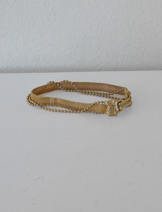 Vintaage triple chain bracelet.