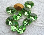 8x6 Swarovski Glass Peridot Green Oval Loose Rhinestones