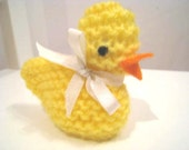 Hand knit little Easter Chick that stores Easter Eggs