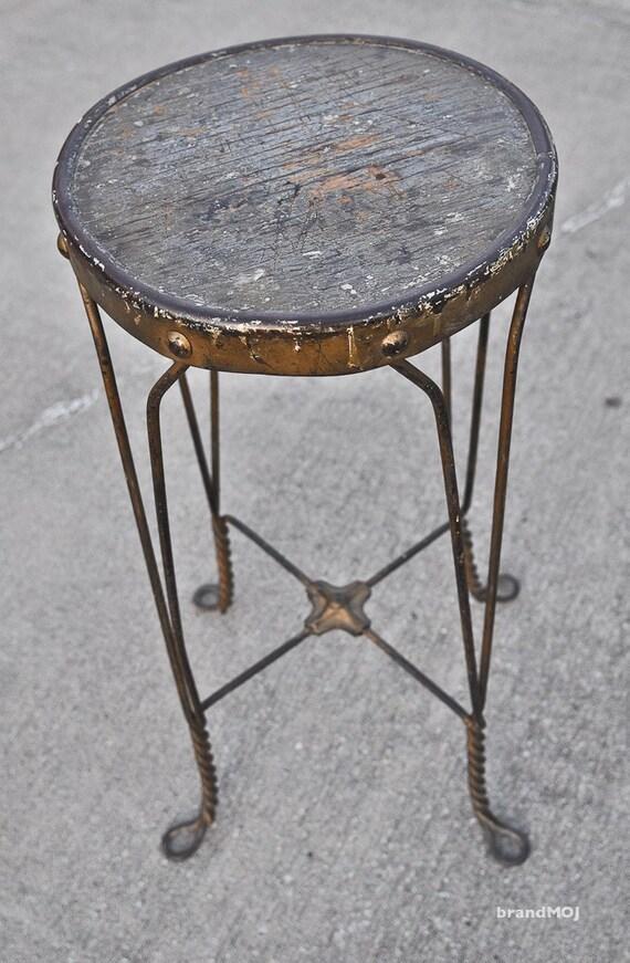 Vintage Ice Cream Stool - salvaged - rustic - shabby chic - kitchen decor - decor - artisan - industrial - mid-century - furniture